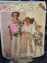 Vintage McCall's 2394 Boy's Shirt, Shorts & Pants Pattern - Sizes 7/8/10 - £5.46 GBP