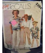 Vintage McCall's 2394 Boy's Shirt, Shorts & Pants Pattern - Sizes 7/8/10 - $7.13