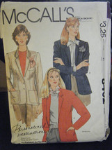 Vintage McCall's 8402 Misses Lined Jacket Pattern - Size 14 Waist 36 - $5.35