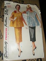 Vintage 1950's Simplicity 1099 Maternity Suit-Dress Pattern - Size 11 Bu... - $17.83