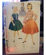 Vintage Simplicity 4101 Girl's Dresses Pattern - Size 12 Bust 30 - $10.69