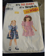 Simplicity 9308 Girl's Dress Pattern - Sizes 2/3/4/5/6/6X - $5.35