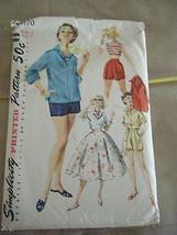 Vintage 1960's Simplicity 1170 Shirts, Shorts & Skirt Pattern - Size 13 ... - $8.91