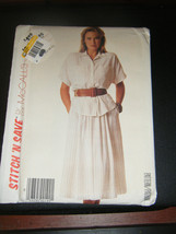 McCall's Stitch'n Save 3113 Misses Shirt & Skirt Pattern - Size 12/14/16 - $5.35