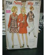 Simplicity 7794 Misses Skirt, Mini-Skirt, Jacket & Vest Pattern - Size 10 - $8.41