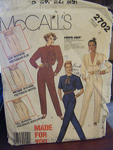 Vintage McCall's 2702 Misses Jumpsuit Pattern - Size 8 - $7.13