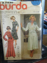 Vintage Burda 27430 Misses 2-Piece Dress in 2 Lengths Pattern - Sizes 12-18 - $6.24