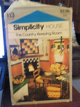 Vintage Simplicity 113 Country Keeping Room Pattern - $5.35