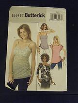 Butterick B4517 Misses Top Pattern - Size 8/10/12/14 - $7.13