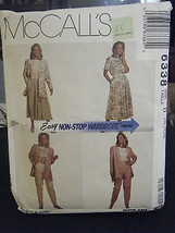 McCall's 6338 Misses Unlined Jacket, Top, Skirt & Pants Pattern - Size 1... - $6.24