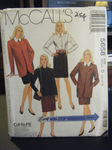 McCall's 5658 Misses Unlined Jacket, Blouse & Skirt Pattern - Size 12/14/16 - $6.24