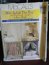 Vintage McCall's by Donna Babylon 720 Bed Canopies Pattern - $6.24