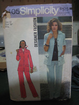 Simplicity 6405 Misses Pantsuit (Jacket Top & Pants) Pattern - Size 12 B... - $6.24