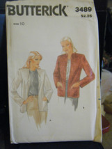 Vintage Butterick 3489 Misses Unlined Jacket Pattern - Size 10 Bust 32 1/2 - $7.55