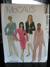 McCall's #M4391 Misses Lined Jacket, Pants & Skirt Pattern - Sizes 8/10/... - $6.24