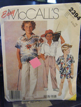 Vintage McCall's 2394 Boy's Shirt, Shorts & Pants Pattern - Sizes 8/10/12 - £5.14 GBP