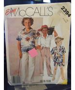 Vintage McCall's 2394 Boy's Shirt, Shorts & Pants Pattern - Sizes 8/10/12 - $6.72