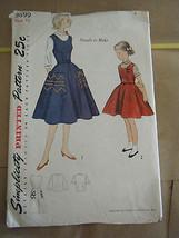 Vintage 1950's Simplicity 3699 Girl's Jumper, Dress & Blouse Pattern - S... - $8.02