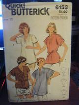 Vintage Butterick 6153 Misses Tops Pattern - Size 10 - $7.13