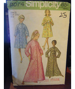 Vintage Simplicity 9074 Misses Robe in 2 Lengths Pattern - Size 10 Bust ... - $5.66