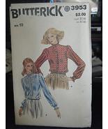 Butterick 3953 Misses Blouse Pattern - Size 10 Bust 32 1/2 - $7.13