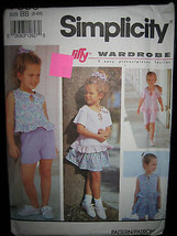 Simplicity #7850 Child's Top/Skirt/Shorts/Bicycle Shorts Pattern - Sizes... - $6.24