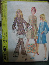 Vintage 1970 McCall's #2478 Dress/Top/Pants Pattern-Size 10 - $7.12