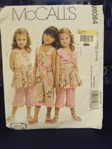 McCall's M6064 Girl's Bolero, Dress, Jumpsuit & Pants Pattern - Size 2/3... - $6.24