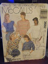 Vintage McCall's 3682 Misses Stretch Knit Tops Pattern - Sizes 6 & 8 - $4.46