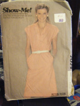 McCall's Show-Me 7074 Misses Dress & Tie Belt Pattern - Sizes 8 & 10 - $6.24