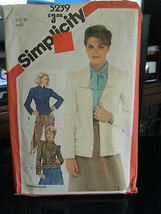 Simplicity 5239 Misses Lined & Unlined Fitted Jackets Pattern - Size 10 - $5.35