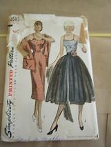 Vintage 1950's Simplicity 3585 Misses Dress & Stole Pattern - Size 14 Bu... - $16.05