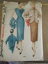 Vintage 1950's Simplicity 4765 Jumper, Dress & Jacket Pattern - Size 14 ... - $15.16