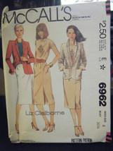 McCall's Liz Claiborne 6962 Jacket, T-Shirt & Skirt Pattern - Size 6 Bus... - $6.24