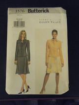 Butterick Ellen Tracy Linda Allard 3576 Jacket & Skirt Pattern - Size 12... - $6.24