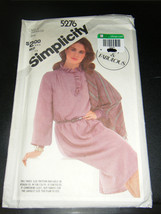 Simplicity 5276 Misses Pullover Dress & Shawl Pattern - Size 16 - $5.35