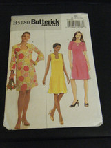 Butterick B5180 Misses Dress Pattern - Size 8/10/12/14 - $8.91