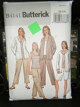 Butterick B4141 Misses Jacket, Top, Shorts & Pants Pattern - Size XS/S/M - $7.12