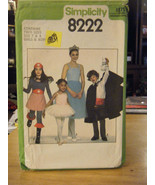 Simplicity 8222 Ballerina, Wonder Woman, Magician Costume Pattern - Size... - $5.35