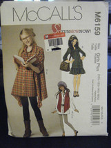 McCall M6159 Girls Plus Vest, Dress, Shirts & Legging Pattern - Sz 10 1/... - $6.24
