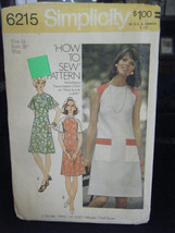 Simplicity 6215 Misses Dress Pattern - Size 16 Bust 38 - $11.58
