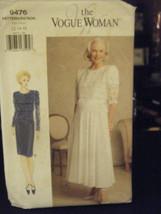 Vogue Woman 9476 Misses Elegant Dress Pattern - Size 12/14/16 - $9.80