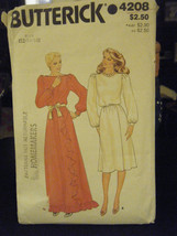 Butterick 4208 Misses Dress in 2 Lengths Pattern - Size 12 - $6.24