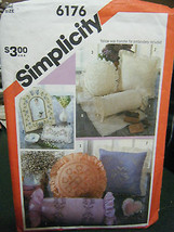 Butterick #6176 Assorted Pillows/Sachets/Dresser Scarf/Picture Frame Pat... - $6.24