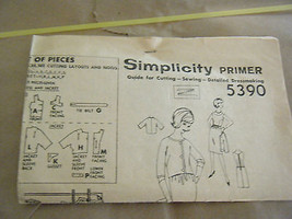 Vintage 1960's Simplicity 5390 Paris Fashion Dress & Jacket Pattern-Sz 14 Bst 32 - $16.05