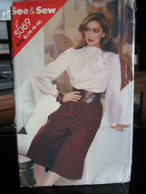 Vintage Butterick See & Sew #5069 Misses Blouse & Culottes Pattern-Sizes... - $6.24