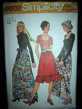 Vintage Simplicity #9602 Misses Evening Dress in 2 Lengths Pattern - Siz... - $8.02