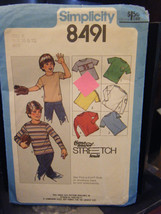 Simplicity 8491 Boy's Pullover T-Shirt Pattern - Sizes 8 & 10 (Chest 27-28) - $11.58