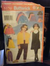 Butterick 5170 Girl's Jacket, Jumper, Skirt, Pants & Hat Pattern - Sizes... - $5.34