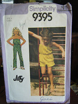 Vintage Simplicity 9395 Girl's Jumpsuit in 2 Lengths Pattern - Size 4 Chest 23 - $9.80